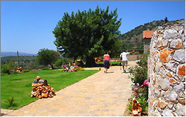 Footpath from the villas to the taverna