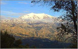 Amari Valley: View of the Ida mountains from Meronas