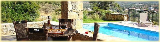 Villa (4) - Terrace and swimming pool