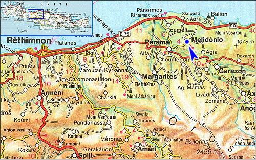 Melidoni: Site Map